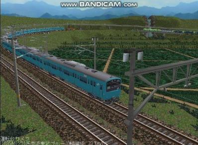 越河レイアウト電車シリーズ70-201系京浜東北スカイブルー11