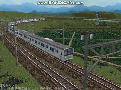 越河レイアウト電車シリーズ78-205系山手線8
