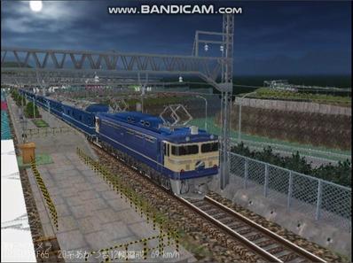 越河レイアウト夜汽車シリーズ12-EF65-500あかつき3