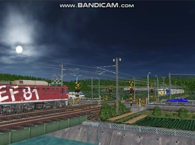 VRM3版気越河東北本線越河踏切背景4おぼろ月夜