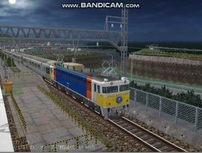 越河レイアウト夜汽車シリーズ5-EF8189カシオペア4