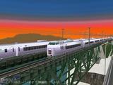 E351スーパーあずさ仮想熊ヶ根鉄橋1