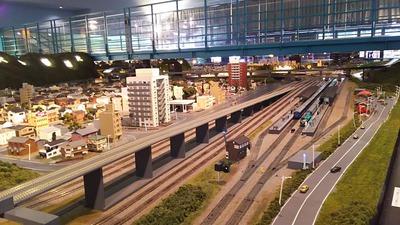 ジオラマ京都HOゲージ右側奥1ホーム先端
