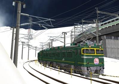 仮想日本海縦幹線雪景色カーブ7トワイライト