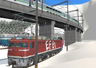 仮想日本海縦幹線雪景色トンネル在来線3