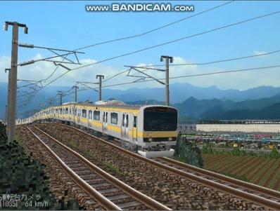 越河レイアウト電車シリーズ73-E231系総武線4