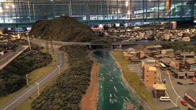 ジオラマ京都HOゲージ右側奥9河川