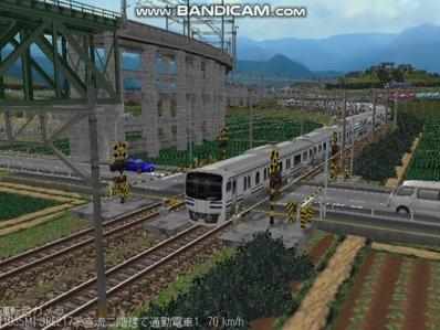 越河レイアウト電車シリーズ80-E217系二階建て7
