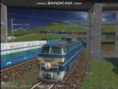 越河レイアウト夜汽車シリーズ8-EF66-46みずほ6