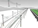 雪景色と貨物交換駅レイアウト42.jpg