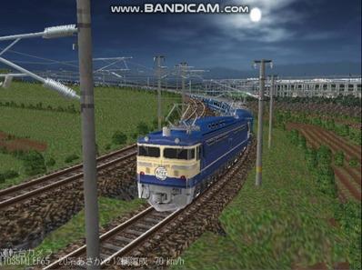 越河レイアウト夜汽車シリーズ13-EF65-500あさかぜ3