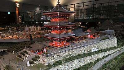ジオラマ京都HOゲージ右側清水寺3