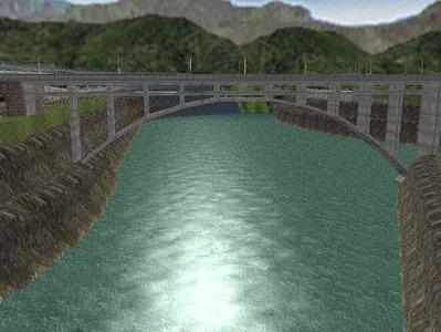 越河レイアウト越河第2ダム5コンクリートアーチ1
