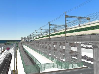 仮想日本海縦幹線雪景色新幹線変電所4