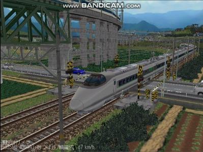 越河レイアウト特急シリーズ60-400系つばさ山形新幹線6
