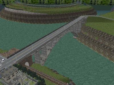 越河レイアウト越河第2ダム5コンクリートアーチ2