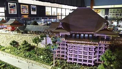 ジオラマ京都HOゲージ夜景その10