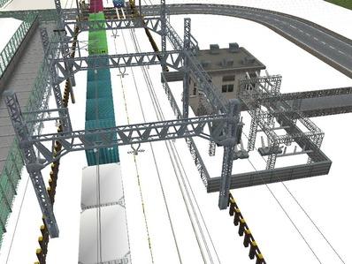 仮想日本海縦幹線雪景色在来線変電所8