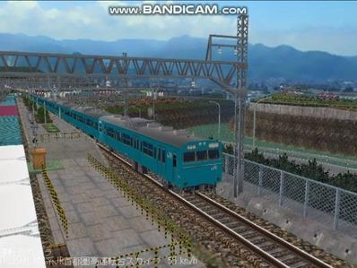 越河レイアウト103シリーズ99-103系JR高運転台スカイブルー色首都圏3