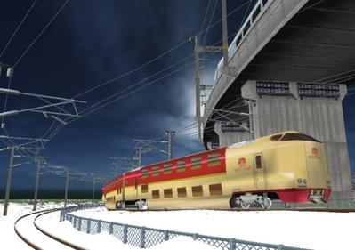 仮想日本海縦幹線雪景色285系サンライズ4