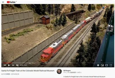 コロラド鉄道模型博物館サンタフェ貨物列車2