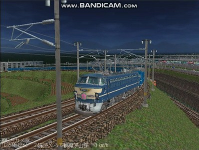 越河レイアウト夜汽車シリーズ7-EF66-51さくら2