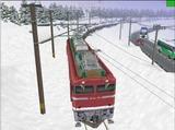 北の貨物駅通過中EF81-95-1