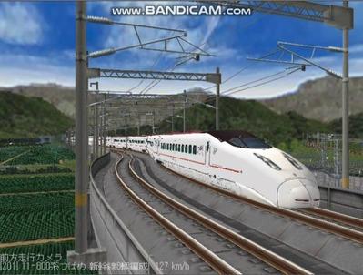 越河レイアウト東北新幹線800系つばめ4