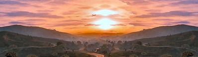 Steam背景夕日オリジナル3AA