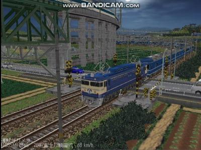 越河レイアウト夜汽車シリーズ14-EF65-500富士6