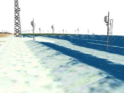 5編成並走見張線海岸線海面作り 2