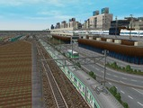 3欲張り新幹線レイアウト踏切道部分83