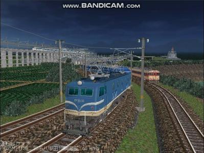 越河レイアウト夜汽車シリーズ15-EF58-138さくら-1