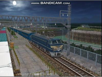 越河レイアウト夜汽車シリーズ10-EF6649はやぶさ5