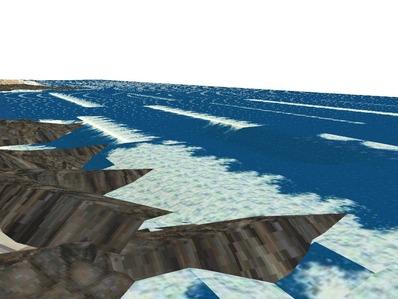 5編成並走見張線海岸線岩礁15