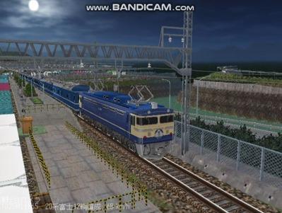越河レイアウト夜汽車シリーズ14-EF65-500富士5
