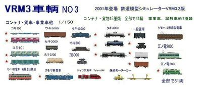 新VRM3車両NO3コンテナ、貨物
