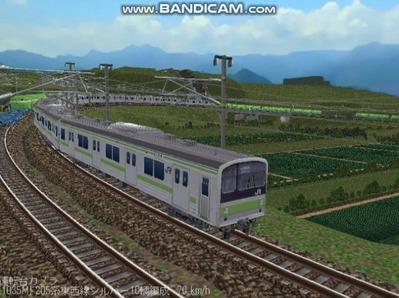 越河レイアウト電車シリーズ78-205系山手線7