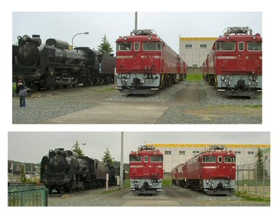 仙台新幹線車両基地展示車両C58.EF71.ED75-4