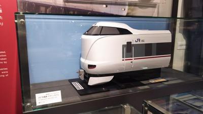 京都鉄道博物館124-287系試作車カットモデル1