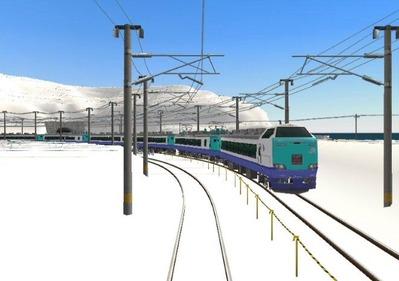 仮想日本海縦幹線雪景色完成青空3