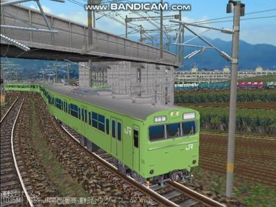 越河レイアウト103シリーズ97-103系JR高運転台ウグイス色関西圏5