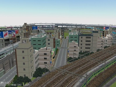 KATOユニトラックレイアウトプ6-9中央駅前周辺12