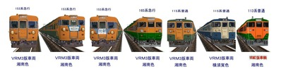 新VRM3車両153・165・115・113電車1