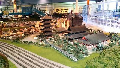 ジオラマ京都HOゲージ手前左側東寺3