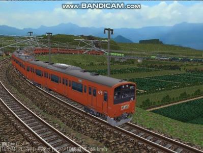 越河レイアウト電車シリーズ69-201系中央線オレンジ中特11