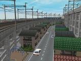 3欲張り新幹線レイアウト踏切道部分80
