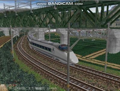 越河レイアウト400系+E3系動画2501本記念3