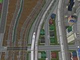 3欲張り新幹線レイアウト踏切道空撮6