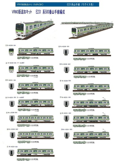 越河レイアウト電車シリーズ74-E231系山手線A
